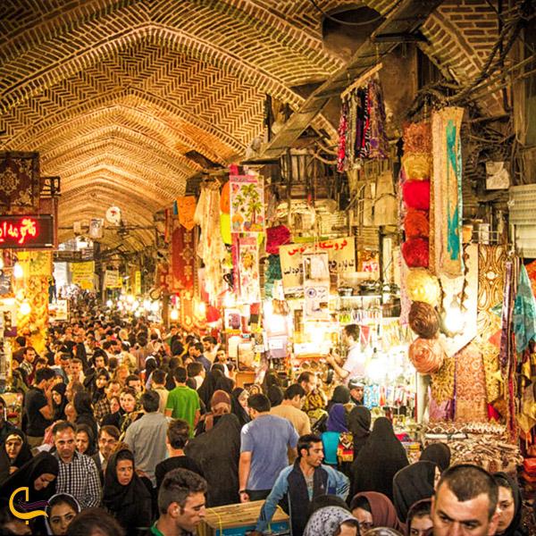 تصویری از بازار بزرگ تهران