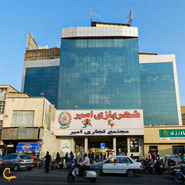 نمایی از مرکز خرید امیر در خیابان جردن