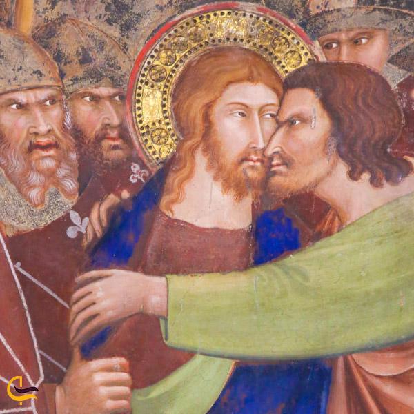 تصویر قدیمی از داستان یهودای اسخر و مصلوب شدن حضرت مسیح