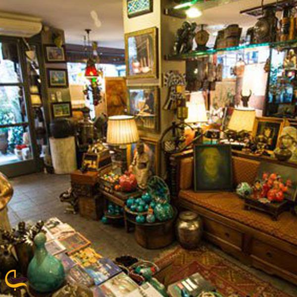 تصویری از مغازه عتیقه جات بازار بزرک استانبول