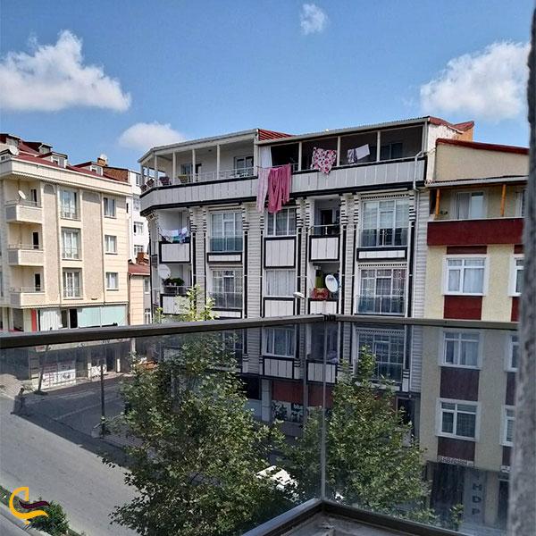 نمایی از ساختمان های منطقه اسنیورت استانبول