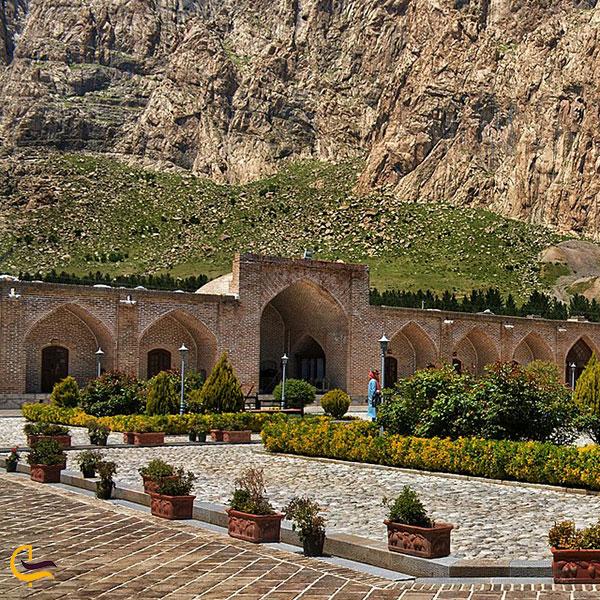 تصویری از کاروانسرای شاه عباشی کرمانشاه