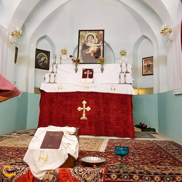 تصویری از داخل کلیسا تهران