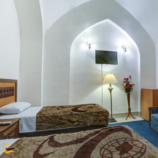 تصویری از اتاق های هتل جهانگردی دامغان