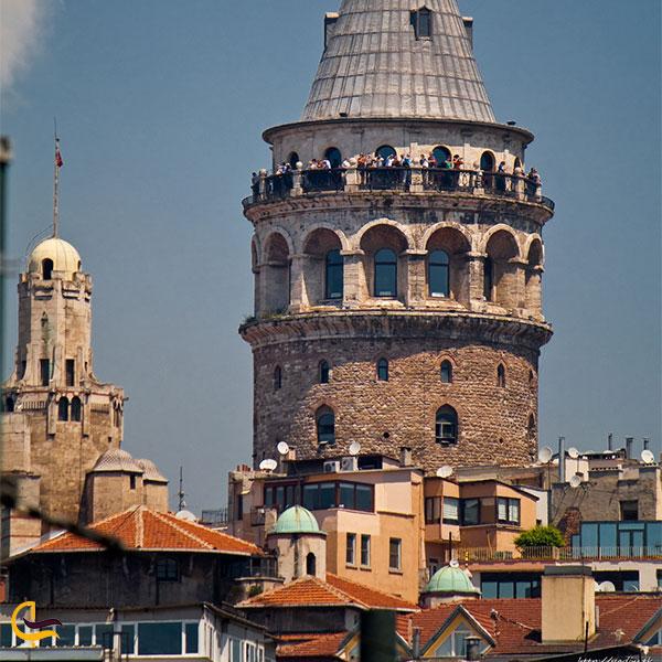 نمایی از برج گالاتا