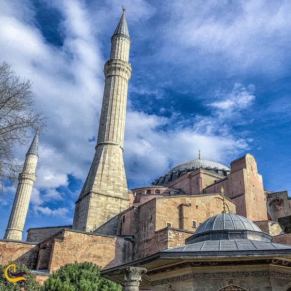 تصویری از گنبد مسجد ابا صوفیه استانبول
