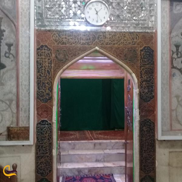 تصویری از در ورودی امام زاده سید حمزه خلخال