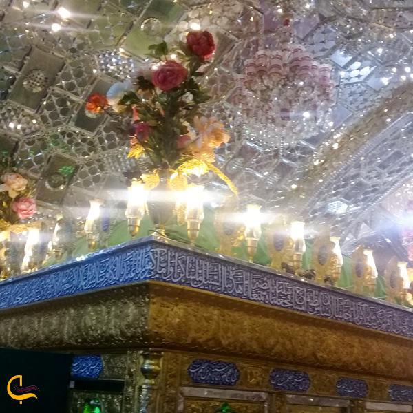 نمایی از بالای ضریح امام زاده سید حمزه خلخال