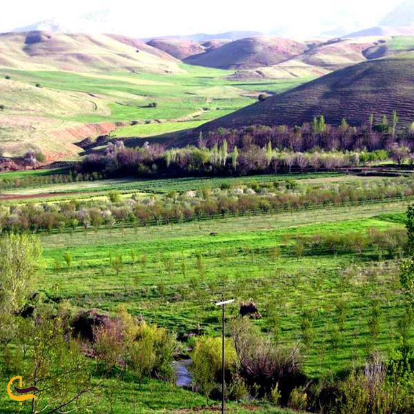 نمایی از طبیعت سرسبز روستا کرکی خان بروجرد