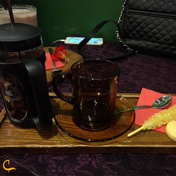 نمایی از دمنوش کافه رستوران مهتاب