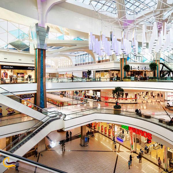 تصویری از داخل مرکز خرید مال آف استانبول