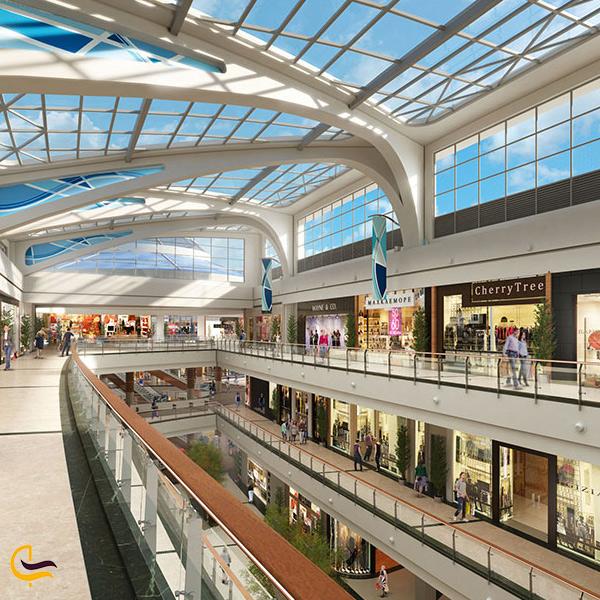 تصویری از مغازه های مرکز خرید مال آف