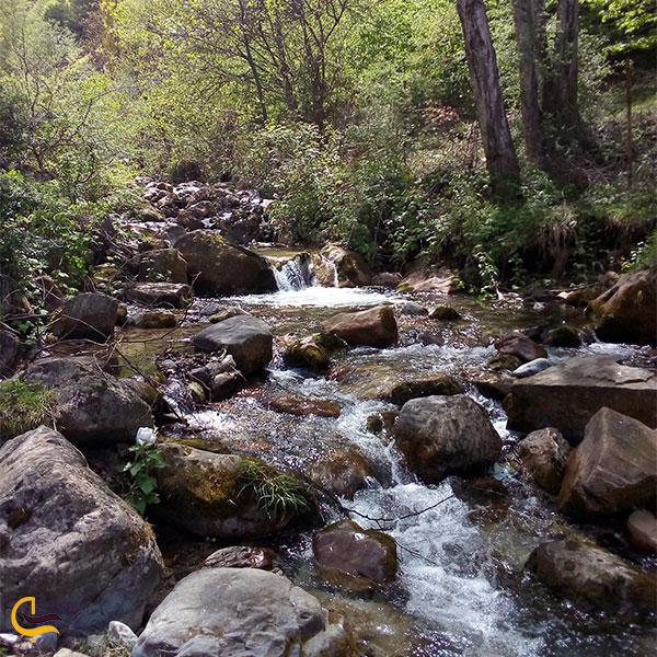 نمایی از طبیعت آبشار سنگ بن چشمه