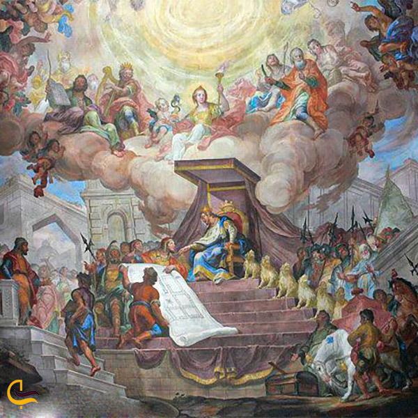 نمایی از نقاشی داستان سلیمان و انگشتر او