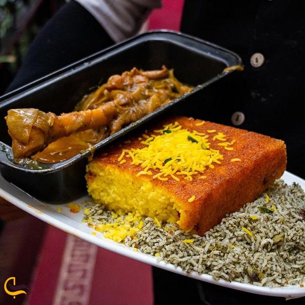 نمایی از غذای رستوران مسلم تهران
