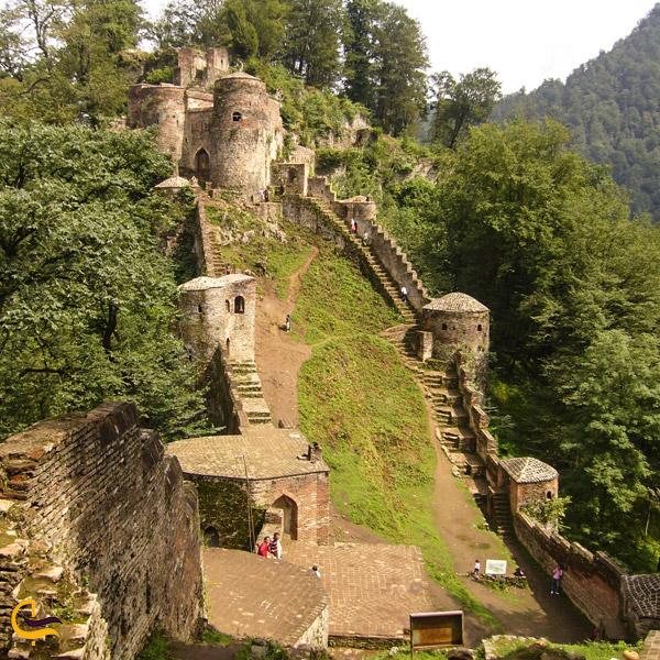 تصویری از قلعه رود خان مازندران