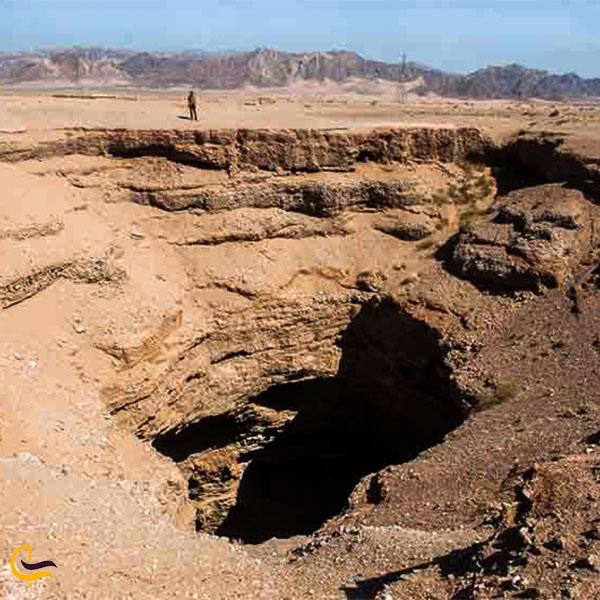 نمایی از غار چاه دریا