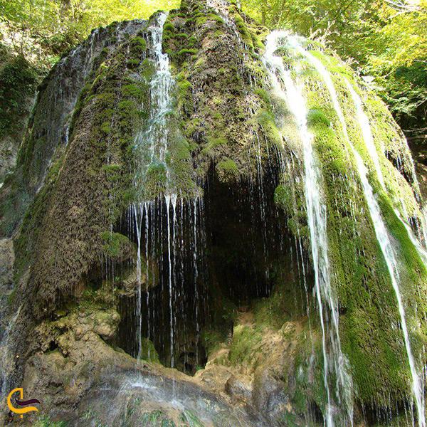 آبشار سمبی از جاذبه های دیدنی جنگل زیبا ی هزار جریب