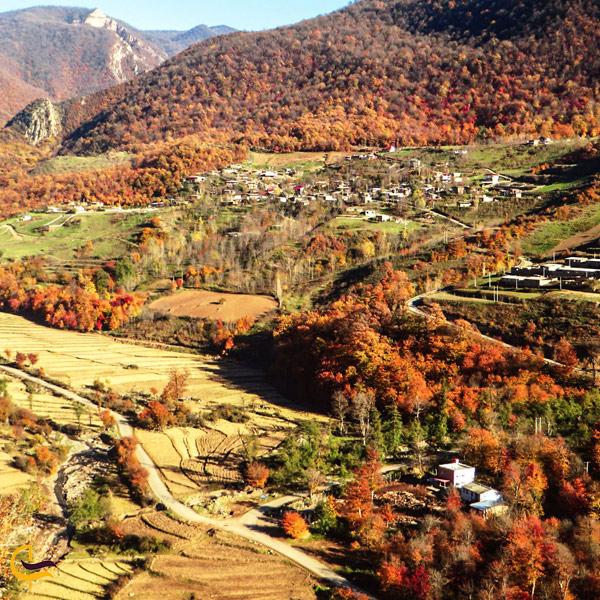 تصویری از طبیعت سرسبز روستای سیاه رود فومن