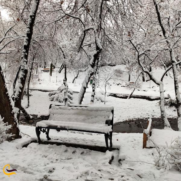تصویر نیمکت برفی پارک وکیل اباد مشهد