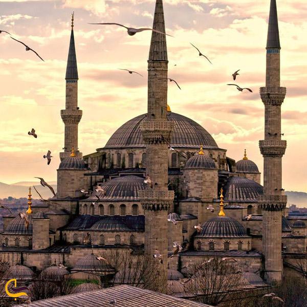 نمایی از مسجد سلطان احمد