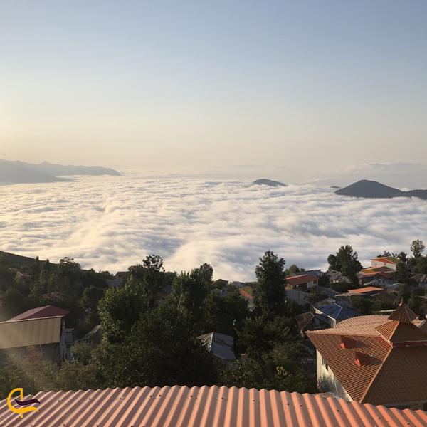 تصویری از ابرهای روستای فیلبند استان مازندران