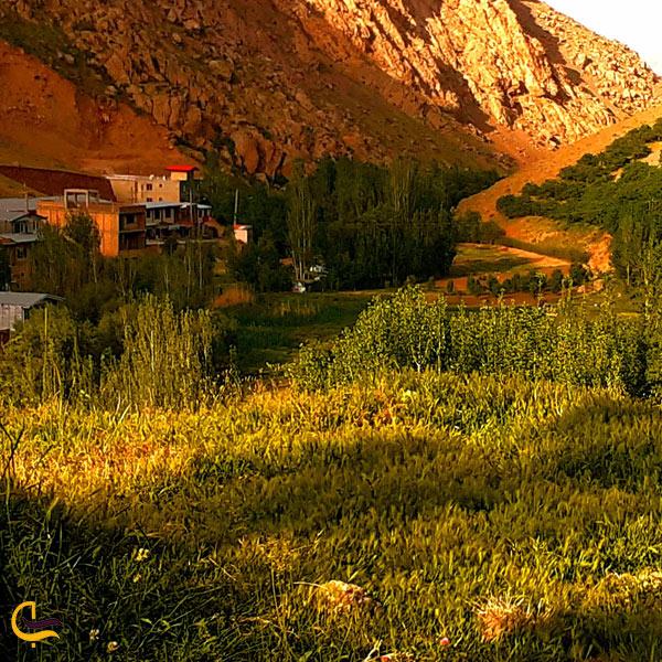 تصوری از خانه های روستا و طبیعت سرسبز روستا ونایی لرستان