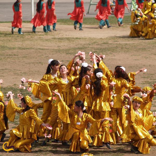 تصویری از رقص در مراسمات نوروزی تاجیکستان
