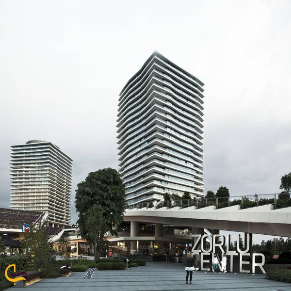 تصویری از ساختمان مرکز خرید زورلو استانبول