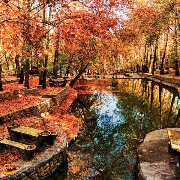 نمای پاییزی از پارک باباامان بجنورد