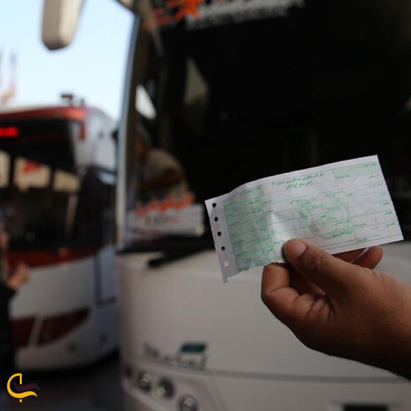 تصویری از بلیط سفر اتوبوس