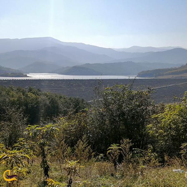 تصویری از دور و بالای سد لفور مازندران