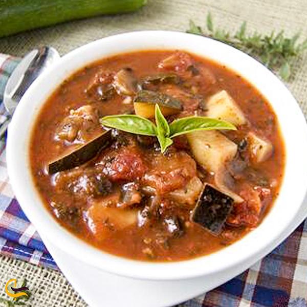 تصویری از خورشت کدو و گردو غذای محلی دامغان