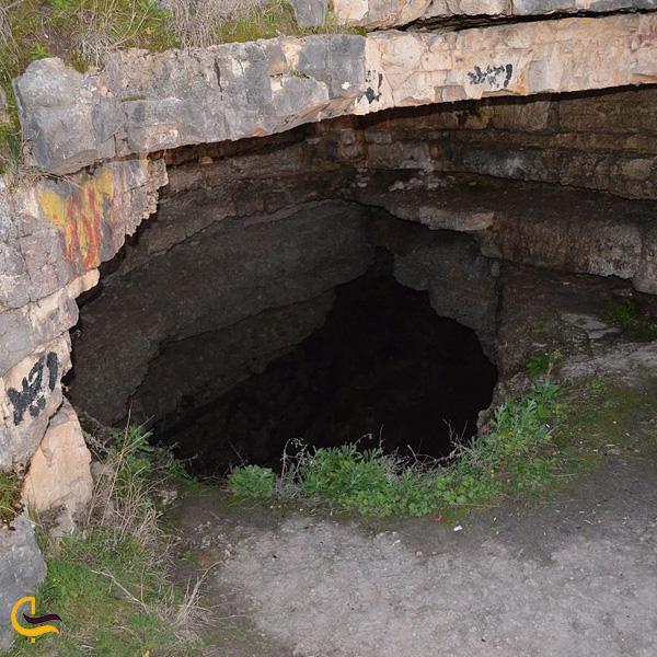 تصویری از غار چاه دیو دامغان