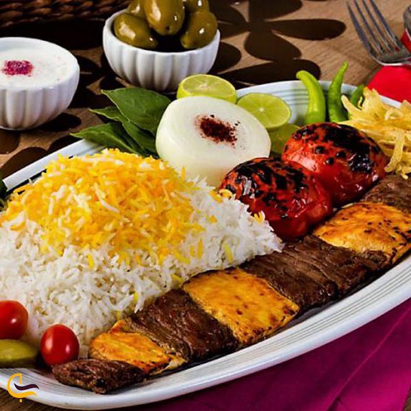 تصویری از غذای محلی کباب بختیاری