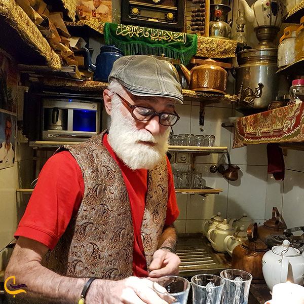 تصویری از قهوه خانه حاج علی درویش تهران