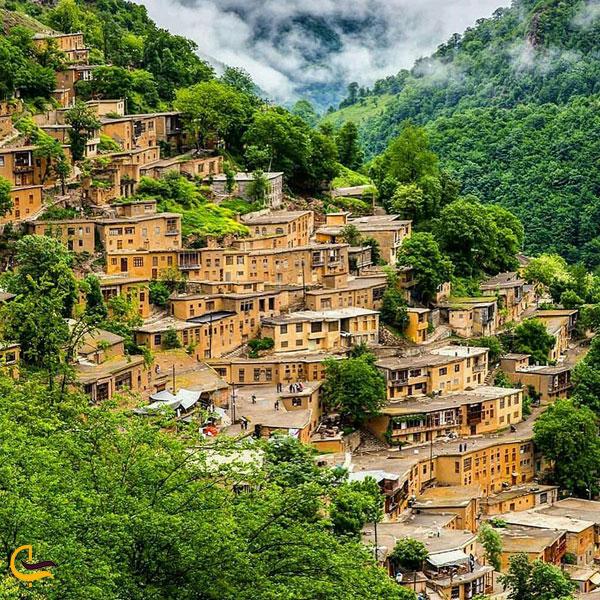 تصویری از خانه های شهرک تاریخی ماسال