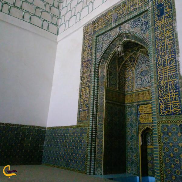 تصویری از محراب مسجد جامع کاشمر