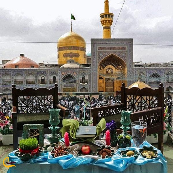 تصویری از هفت سین حرم امام رضا