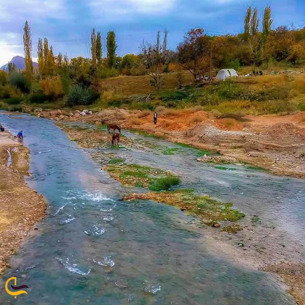 تصویری از رودخانه منطقه گردشگری بیدواز اسفراین