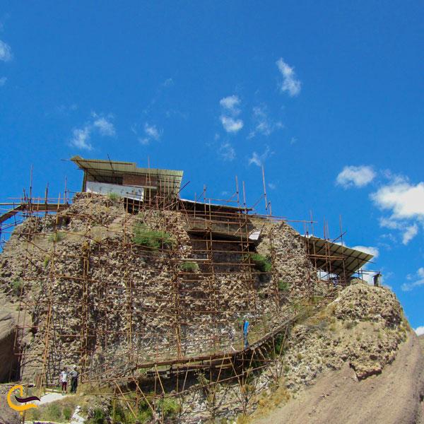 تصویری از طبیعت سرسبز قلعه الموت قزوین