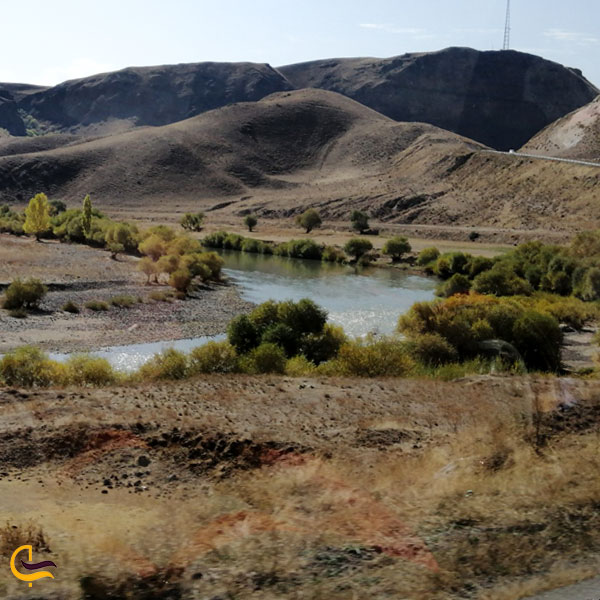 تصویری از رودخانه مرزی ارس
