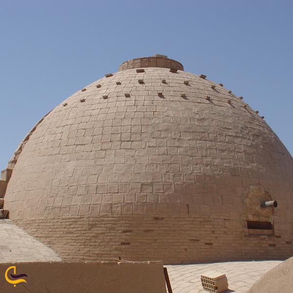 تصویری از گنبد مسجد جامع فیروز آباد میبد
