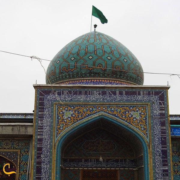 تصویری از گنبد امامزاده سید جلالالدین اشرف