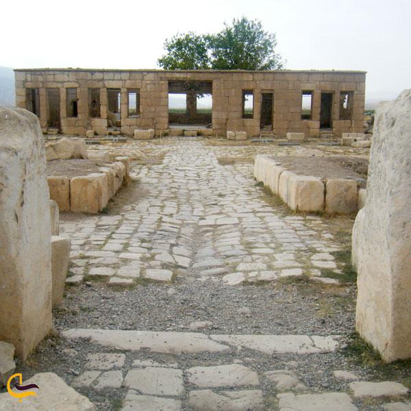 نمایی از بنای تاریخی کاروانسرای مظفری استان فارس