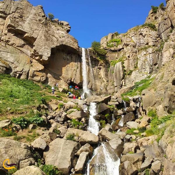 نمای کلی آبشار ورزان