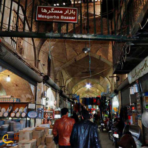 نمایی از بازار مسگرهای شیراز