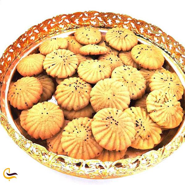 نمایی از کلوچه شیرازی