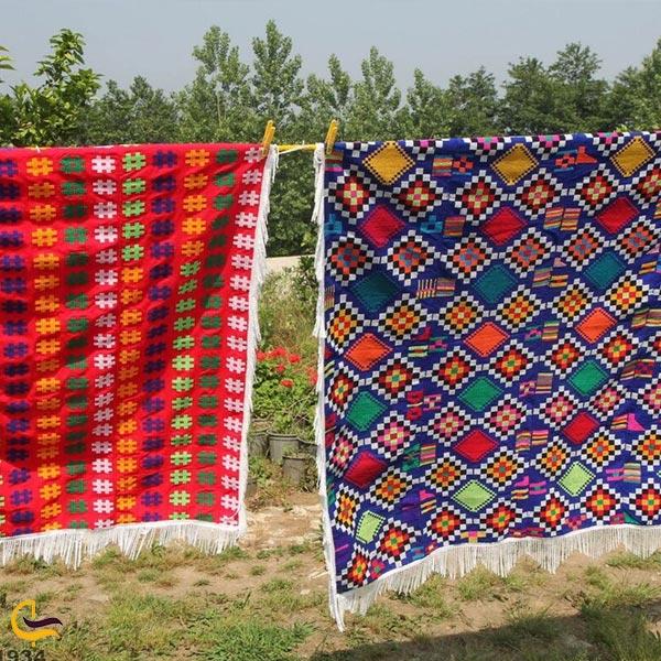 تصویری از چادر شب سوغات گلوگاه
