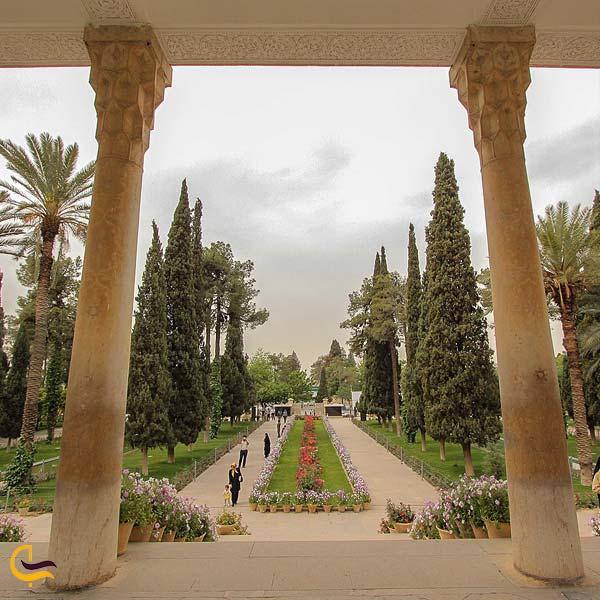تصویری از محوطه شمالی حافظیه شیراز